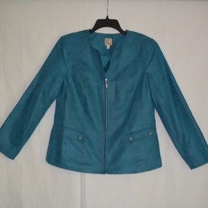 JM Collection Zipper Blazer